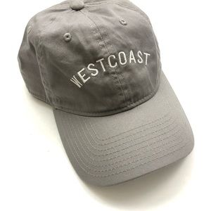Embroidered Gray West Coast Baseball Cap